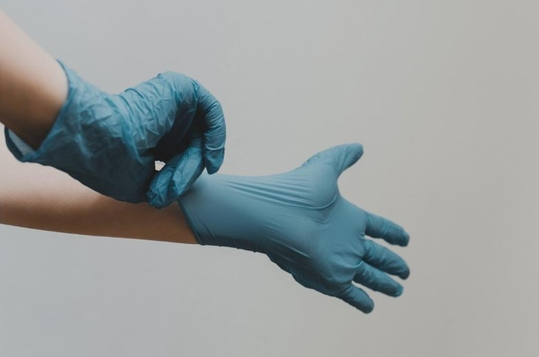 stetchable latex gloves medical grade